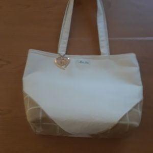Maris Rae cream Suede Cloth purse bag handbag